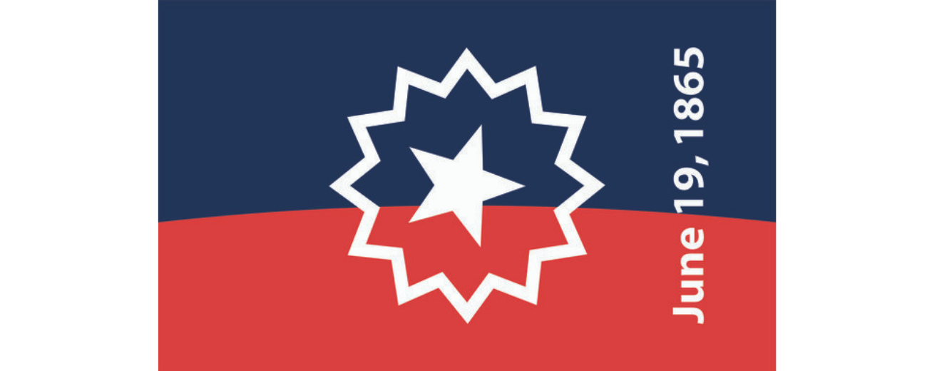 Red, white and blue official Juneteenth flag
