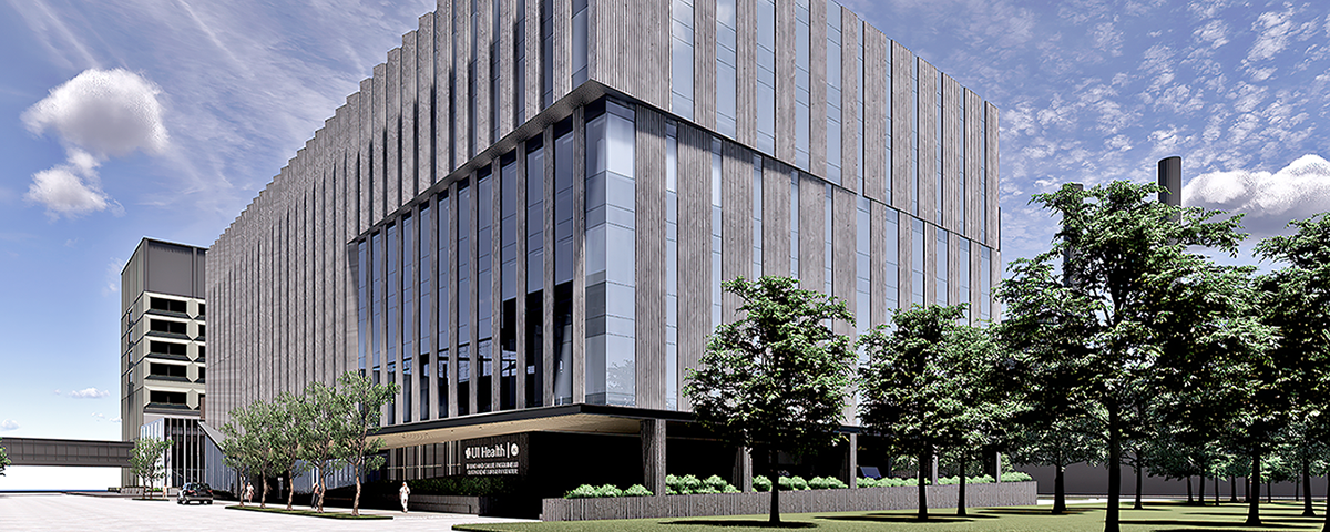 Rendering of the UI Health Outpatient Surgery Center and Specialty Clinics