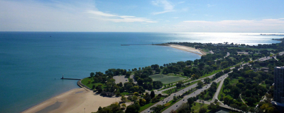 Lake Michigan Chicago shoreline