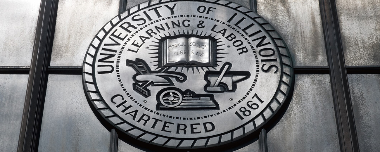 silver seal of the university