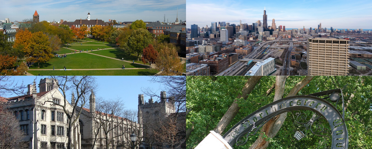 four campuses: UIUC, UIC, U of Chicago, and Northwestern