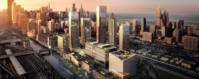 Rendering of future DPI home at the 78 in Chicago