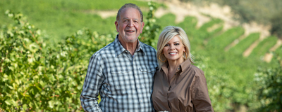 Rich and Leslie Frank at their vineyard