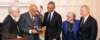 Obama receives award
