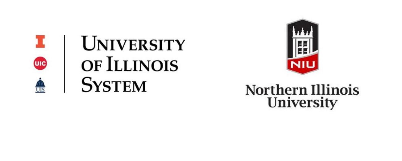 U of I System & NIU logos