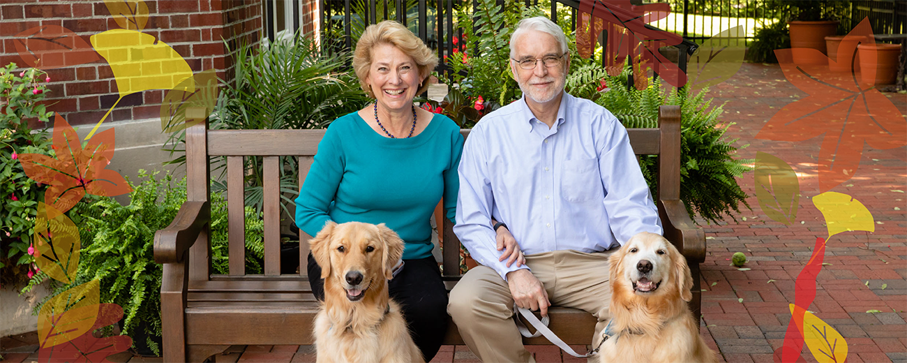 Tim and Roberta Killeen, with dogs