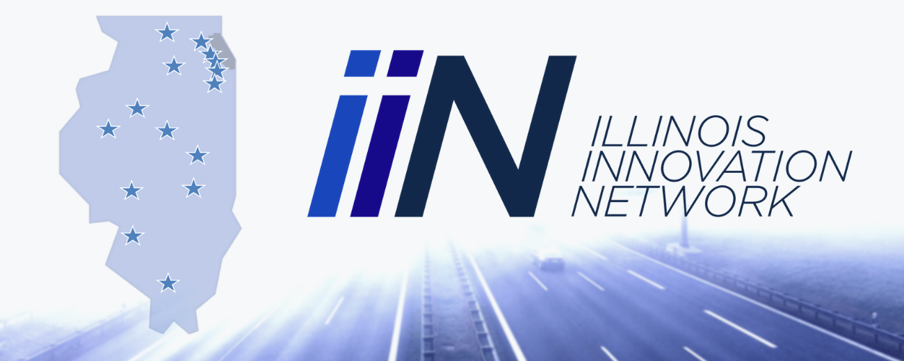 IIN logo and map