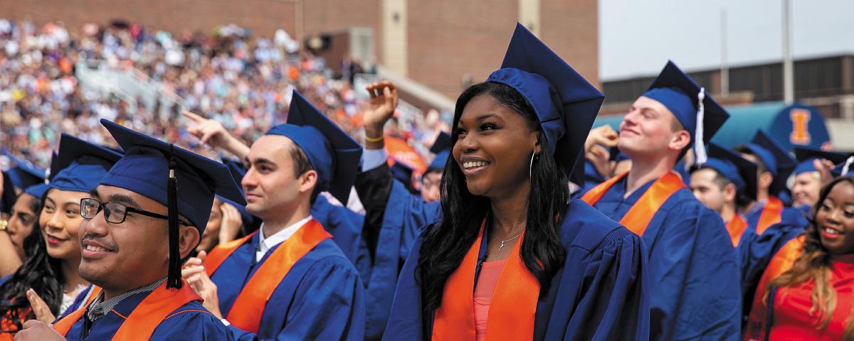 Illini at graduation