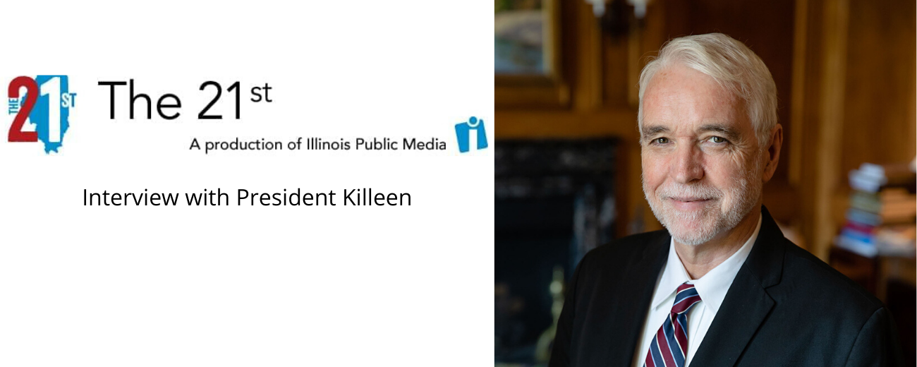 The 21st logo, Interview with Killeen, headshot of Tim Killeen