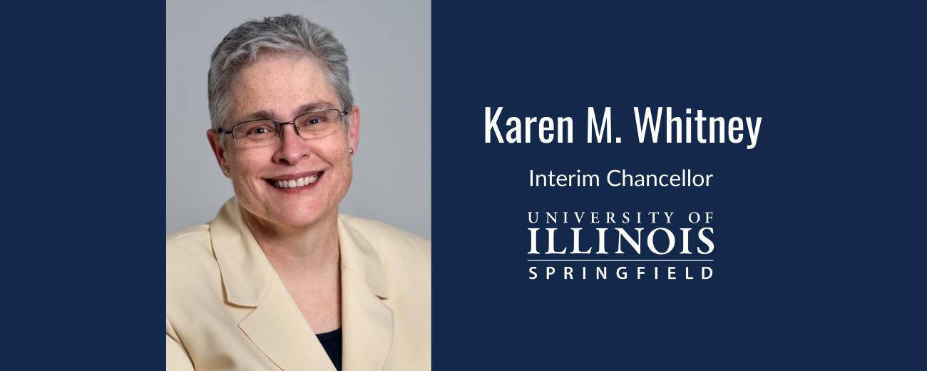 portrait of Karen Whitney, interim chancellor, UIS